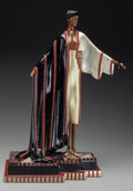 Bronze:Contemporary, An Erté Cold Painted Bronze Sculpture: Michelle, circa 1990.Marks: (artist's cipher), c 1990, CHALK & VERMILL...