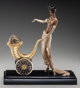 An Erté Cold Painted Bronze Sculpture: Cornucopia, circa 1991 Marks: (artist's cipher), c 1991, CHALK & V...