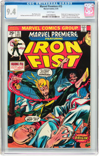 Marvel Premiere #15 Iron Fist (Marvel, 1974) CGC NM 9.4 White pages