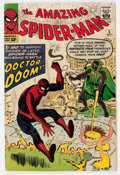 Silver Age (1956-1969):Superhero, The Amazing Spider-Man #5 (Marvel, 1963) Condition: VG....