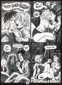Dave Cooper Pressed Tongue #2 Story Page Original Art Group of 3 (Fantagraphics, 1994).... (Total: 3 Original Art)