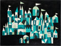 Animation Art:Concept Art, Mary Blair It's a Small World Building Concept Painting(Walt Disney, 1964)....