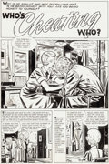 Original Comic Art:Complete Story, Bill Draut True Love Problems and Advice Illustrated #43 Complete 5-Page Story Original Art (Harvey, 1957).... (Total: 5 Original Art)