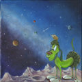 Original Comic Art:Paintings, Moon Doggie | Acrylic | Canvas # 26 | Group 2. Artist: To Be Announced . Red Dot Benefiting the Chuck Jones C...