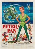 "Movie Posters:Animation, Peter Pan (CIC, R-1972). Italian 4 - Fogli (55.25"" X 77.5"").Animation.. ..."