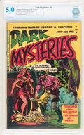 Golden Age (1938-1955):Horror, Dark Mysteries #1 (Master Publications, 1951) CBCS VG/FN 5.0 Whitepages....