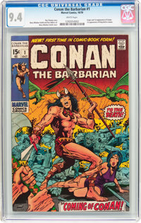 Conan the Barbarian #1 (Marvel, 1970) CGC NM 9.4 White pages