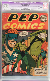 Pep Comics #17 Trimmed (MLJ, 1941) CGC Apparent GD+ 2.5 Slight (C-1) Off-white to white pages