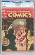 Golden Age (1938-1955):Humor, Super-Dooper Comics #7 (Able Mfg. Co./ Harvey, 1946) CGC FN/VF 7.0 Tan to off-white pages....
