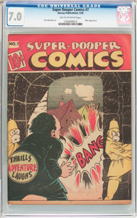 Super-Dooper Comics #7 (Able Mfg. Co./ Harvey, 1946) CGC FN/VF 7.0 Tan to off-white pages