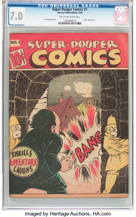 Super-Dooper Comics #7 (Able  Mfg. Co./ Harvey, 1946) CGC FN/VF 7.0 Tan to off-white pages....