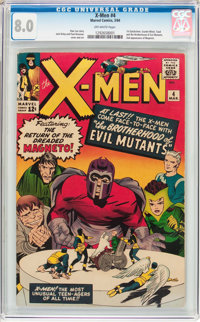 X-Men #4 (Marvel, 1964) CGC VF 8.0 Off-white pages