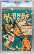 Golden Age (1938-1955):Science Fiction, Planet Comics #19 (Fiction House, 1942) CGC GD 2.0 Light tan tooff-white pages....