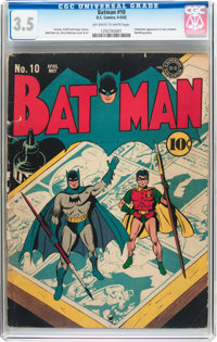 Batman #10 (DC, 1942) CGC VG- 3.5 Off-white to white pages