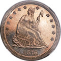 Proof Seated Quarters, 1876 25C PR66 NGC. Briggs 9-J....