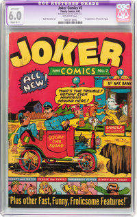 Joker Comics #2 (Timely, 1942) CGC Apparent FN 6.0 Slight (B-1) Off-white pages