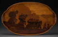 Decorative Arts, French:Other , An Émile Gallé Marquetry Tray with World War I Motif. Émile Gallé,Nancy, France, 20th century. Marks: Gallé. 17 inches high...
