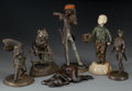 Bronze:European, Six Bronze and Spelter Figures, 20th century. Marks: C. Valton;Fcois George; Boily; . 10-1/2 inches high (26.7 cm) (hig...(Total: 6 Items)