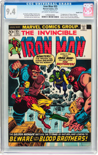 Iron Man #55 Double Cover (Marvel, 1973) CGC NM 9.4 Off-white to white pages