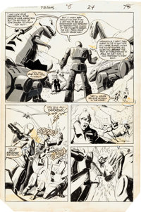 William Johnson and Kyle Baker Transformers #8 Story Page 18 Original Art (Marvel, 1985)