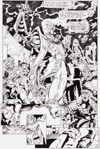 Chuck Wojtkiewicz and Will Blyberg Justice League America #113 Splash Page 16 Original Art (DC, 1996)