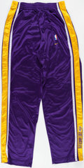 Basketball Collectibles:Uniforms, 1999-2000 Rick Fox Game Worn Los Angeles Lakers Pants....