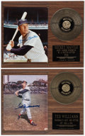 Baseball Collectibles:Photos, Mickey Mantle and Ted Williams Signed Photograph Plaques Lot of2....
