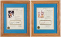 Baseball Collectibles:Others, Mickey Mantle and Ted Williams Signed Prints (2)....