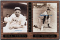 Baseball Collectibles:Photos, Bill Terry and Ted Williams Signed Photographs Plaque....