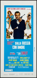 "Movie Posters:James Bond, From Russia with Love (United Artists, R-1970s). Italian Locandina(13"" X 27.5""). James Bond.. ..."