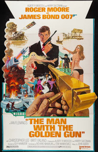 "The Man with the Golden Gun (United Artists, 1974). Standee (36"" X 56.5""). James Bond"