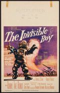 "Movie Posters:Science Fiction, The Invisible Boy (MGM, 1957). Window Card (14"" X 22""). ScienceFiction.. ..."