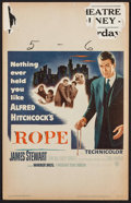 "Movie Posters:Hitchcock, Rope (Warner Brothers, 1948). Window Card (14"" X 22""). Hitchcock.. ..."