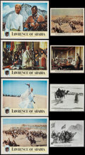 "Movie Posters:Academy Award Winners, Lawrence of Arabia (Columbia, 1962). Lobby Cards (4) (11"" X 14""),Photos (2), Color Photos (7) (8"" X 10""), & Uncut Continuou...(Total: 14 Items)"