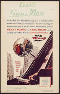 """Movie Posters:Hitchcock, The Wrong Man (Warner Brothers, 1957). Window Card (14"""" X 22""""). Hitchcock.. ..."""