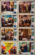 "Movie Posters:Crime, The Honor of the Press (Mayfair Pictures, 1932). Lobby Card Set of 8 (11"" X 14""). Crime.. ... (Total: 8 Items)"