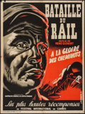 """Movie Posters:Foreign, The Battle of the Rails (UFPC, 1946). French Affiche (23.25"""" X 31.25""""). Foreign.. ..."""