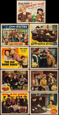 """Movie Posters:Western, Back in the Saddle & Others Lot (Republic, 1941). Title Lobby Cards (3) & Lobby Cards (6) (11"""" X 14""""). Western.. ... (Total: 9 Items)"""
