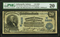 Indianapolis, IN - $20 1902 Plain Back Fr. 653 The Fletcher American NB Ch. # (M)9829