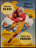 Football Collectibles:Programs, 1959 Vince Lombardi 1st Program as Green Bay Packers Head Coach - High Grade! ...