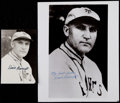 Baseball Collectibles:Photos, Dave Bancroft Signed Photographs Lot of 2....