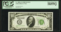 Fr. 2002-D $10 1928B Dark Green Seal Federal Reserve Note. PCGS Choice About New 58PPQ