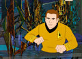 Animation Art:Production Cel, Star Trek Captain Kirk Production Cel and Master ProductionBackground Setup (Filmation, 1973)....