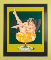 Mel Ramos (b. 1935) Miss Fruit Salad, 1980 Silkscreen in colors on aluminum 46 x 38-1/2 inches (1