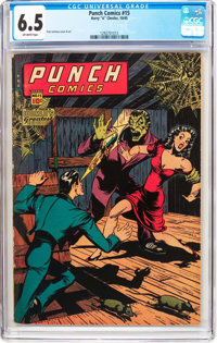 Punch Comics #15 (Chesler, 1945) CGC FN+ 6.5 Off-white pages