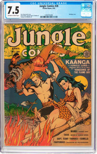 Jungle Comics #28 (Fiction House, 1942) CGC VF- 7.5 Off-white to white pages