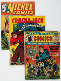 Golden Age (1938-1955):Miscellaneous, Comics Books - Assorted Golden Age Comics Group of 3 (Various Publishers, 1940-41) Condition: Average GD.... (Total: 3 Comic Books)