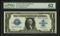 Fr. 237 $1 1923 Silver Certificate PMG Choice Uncirculated 63