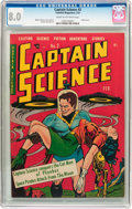 Golden Age (1938-1955):Science Fiction, Captain Science #2 (Youthful Magazines, 1951) CGC VF 8.0 Cream tooff-white pages....