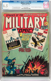 Military Comics #3 (Quality, 1941) CGC FN+ 6.5 Cream to off-white pages
